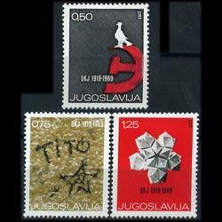 YUGOSLAVIA 1969 - Scott# 962-4 Events Set of 3 NH