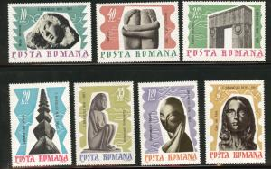 ROMANIA Scott 1913-9 MNH** Brancusi Sculptor set  1967