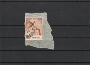 Nigeria 1948 5 Shillings Stamps on Piece ref 22841