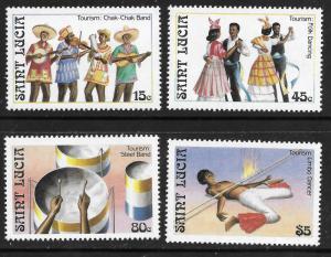 St. Lucia MNH 862-5 CHAK-CHAK Band SCV 2.20