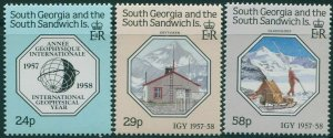 South Georgia 1987 SG176-178 International Geophysical Year set MNH