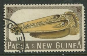 Papua New Guinea- Scott 200 - General Issue -1965 - FU- Single 1/2p Stamp