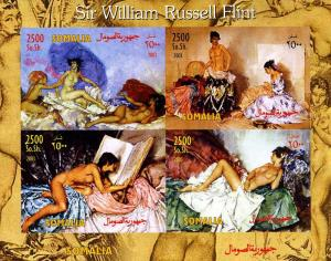Somalia 2003 SIR WILLIAM RUSSELL FLINT Nudes Paintings Imperforated Mint (NH)