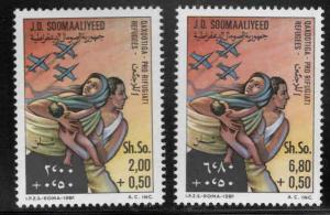Somalia Scott B89-B90 MNH* refugee semi-postal set CV$4.85