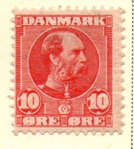 Denmark Sc 71 1906 10 ore Christian IX scarlet stamp mint