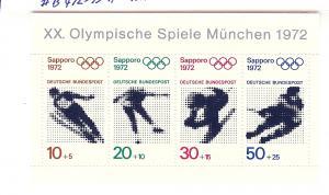 Germany, B475a, Winter Olympics,Semi-Postal S/S(4),MNH