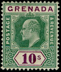 GRENADA SG66, 10s green & purple, LH MINT. Cat £160.