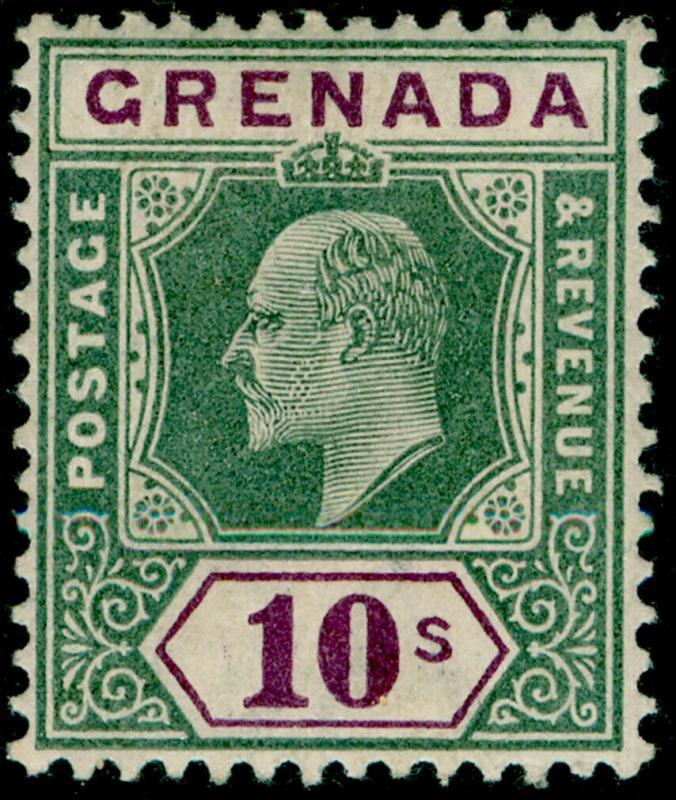 GRENADA SG66, 10s green & purple, LH MINT. Cat £160.