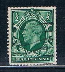 Great Britain 210a: 0.5p George V, w/mk sideways, used, F-VF