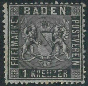 77914j - GERMANY Baden -  STAMP:  Michel  #  9  -  USED