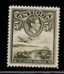 Antigua Sc 93 1944 5/ G VI & St John's Harbour stamp mint