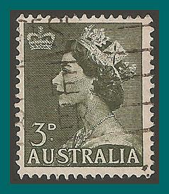 Australia 1953 Queen Elizabeth II, used  257,SG262
