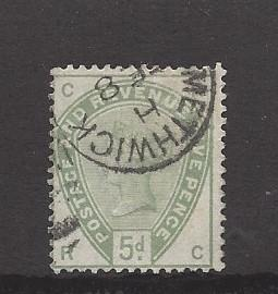 Great Britain, 104, Queen Victoria  Single, Used #1