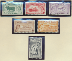 Falkland Islands Stamps Scott #122 To 127, Mint, High Values NH - Free U.S. S...