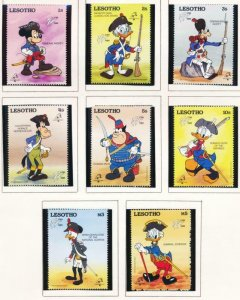 DISNEY LESOTHO 710-719 MINT NH FRENCH MILITARY UNIFORMS