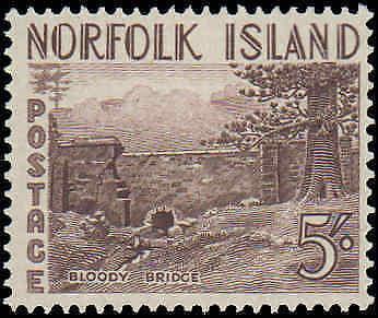 1953 Norfolk Islands #13-18, Complete Set(6), Hinged