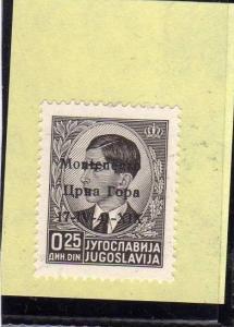 MONTENEGRO 1941 SOPRASTAMPATO 25 P MNH