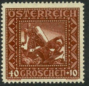 AUSTRIA 1926 40g+10g Dietrich von Bern Vanquishes Hagen Semi Postal Sc B76a MLH