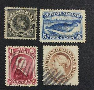 MOMEN: NEWFOUNDLAND #59-61 1894 USED £133 LOT #7018