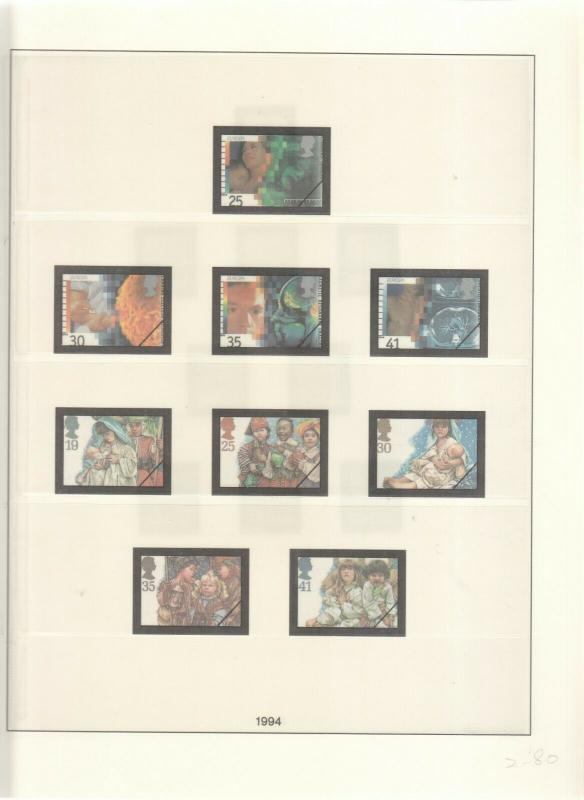 LINDNER LUXURY GB ALBUM PAGES YEARS 1993-1994