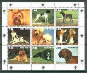 North Ossetia Republic 1999 Dogs perf sheetlet containing...
