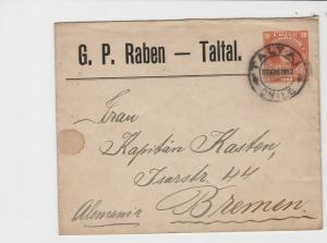 chile 1912 to bremen  stamps cover ref r13279