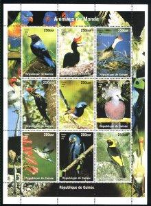 Guinea 9 birds   SS Mint NH VF 1998 PD
