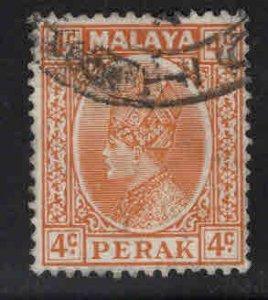 MALAYA Perak Scott 71 Used stamp vertical crease