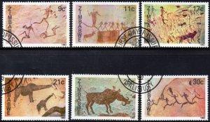 Zimbabwe - 1982 Rock Paintings Set Used SG 610-615