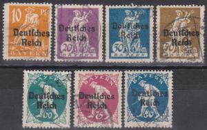 Bavaria #257, 259-61, 263-5  F-VF Used CV $15.80 (B5969)