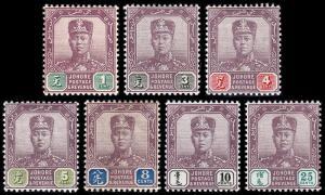 Malaya - Johore Scott 59, 61-66 (1904-10) Mint H VF, CV $81.25 B