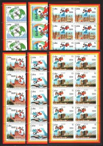 Cuba. 1999. Small sheet 4232-37. International Exhibition in Hanover. MNH.