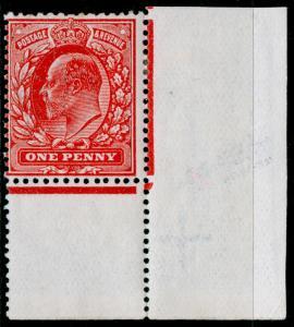 SG272 SPEC M6(1), 1d rose-red, LH MINT. CORNER MARGINAL