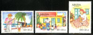 ARUBA 1999 CHILD WELFARE Semi Postal Set Sc B56-B58 MNH