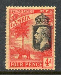 Gambia 1922 KGV 4d wmk MSCA SG 129 mint CV £29