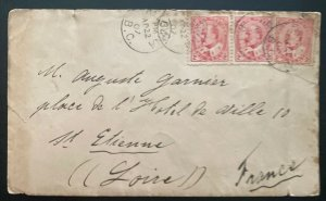 1907 Kelowna Canada Postal Stationery Postcard Cover To St Etienne France