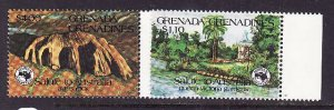 Grenada Grenadines-Sc#616-7-unused NH set-Ausipex-Queen Victoria Gardens-1984-