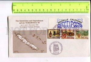 400170 New Caledonia 1984 POLAR EXPLORATION MAP philatelic exhibition Nordposta