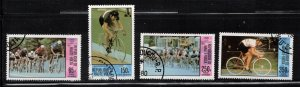 UPPER VOLTA Scott # C258-61 Used - Cycling - 1980 Olympics