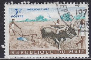Mali 19 CTO 1961 Plowing The Fields