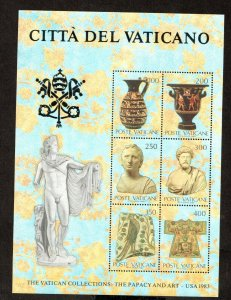 1983    VATICAN CITY  -  SG: MS 797 -  VATICAN COLLECTION (2)  - UNMOUNTED  MINT