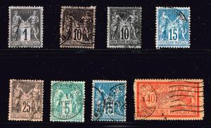 FRANCE STAMP USED STAMP COLLECTION LOT  #T1