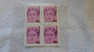 POLAND BLOCK OF 4 STAMPS . CTO. MNH. 1982
