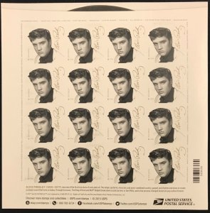 5009    Elvis Presley  Music Icon   MNH Forever sheet of 16   FV $8.80   In 2015