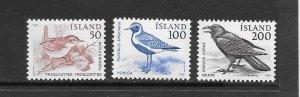 BIRDS - ICELAND #543-5  MNH