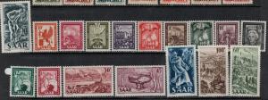 Saar 1949-1951 SC 204-220 MNH Set SCV $125.00