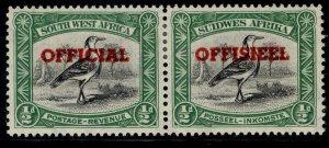 SOUTH WEST AFRICA GVI SG O23, ½d black & emerald, M MINT. Cat £18.