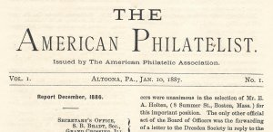 Doyle's_Stamps: APS Members' Delight- The American Philatelist Volume 1, No. 1