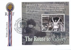 [96864] Bequia 2005 WWII Liberation Paris Special Cachet Cover