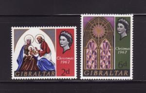 Gibraltar 203-204 Set MNH Christmas (A)